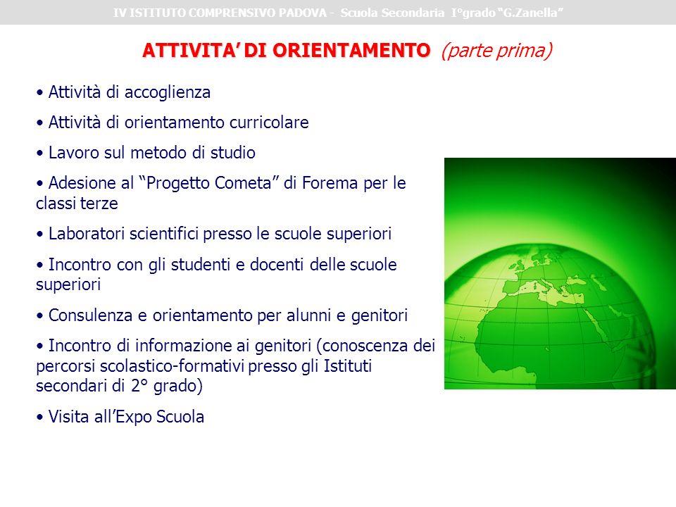 ATTIVITA' DI ORIENTAMENTO (parte prima)