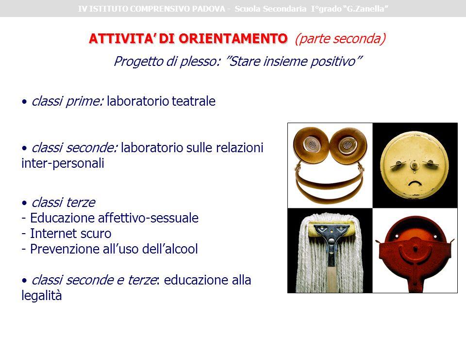 ATTIVITA' DI ORIENTAMENTO (parte seconda)
