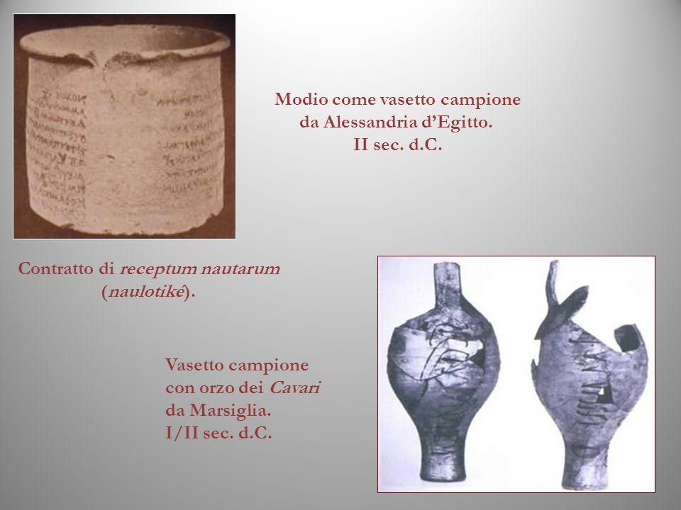 Modio come vasetto campione da Alessandria d'Egitto. II sec. d.C.