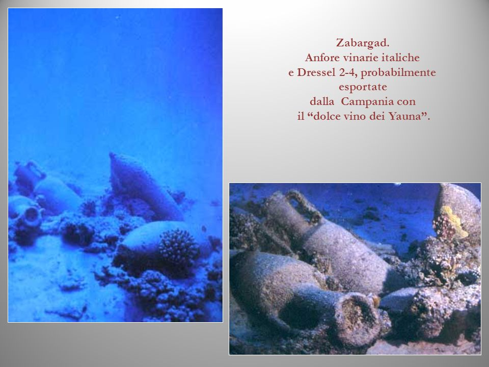 Anfore vinarie italiche e Dressel 2-4, probabilmente esportate