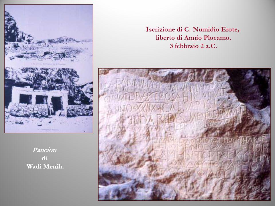 Iscrizione di C. Numidio Erote, liberto di Annio Plocamo.