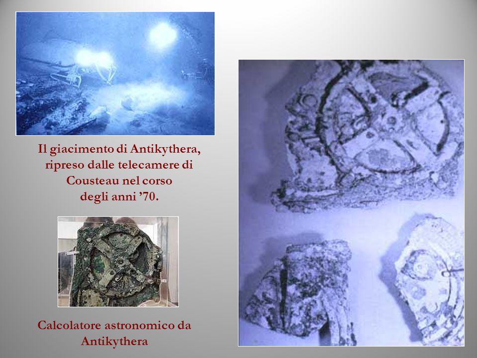 Il giacimento di Antikythera, ripreso dalle telecamere di