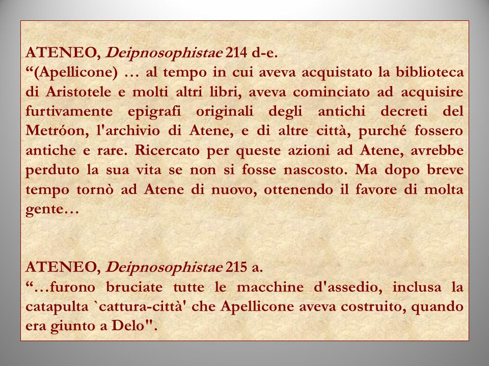 ATENEO, Deipnosophistae 214 d‑e.