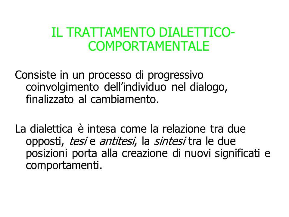 IL TRATTAMENTO DIALETTICO-COMPORTAMENTALE