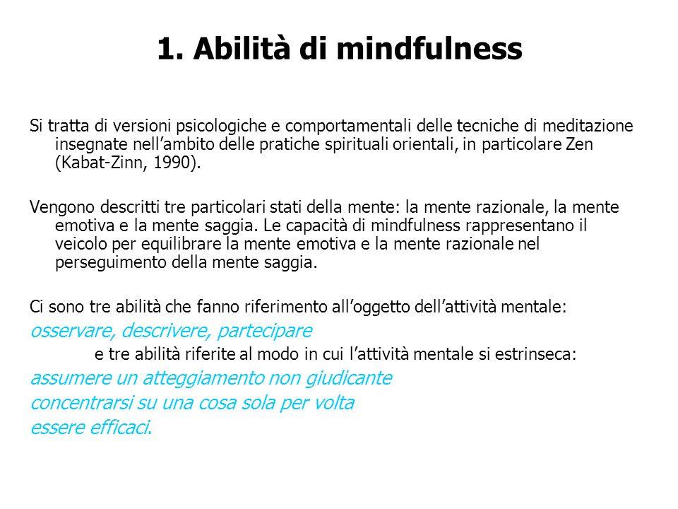 1. Abilità di mindfulness
