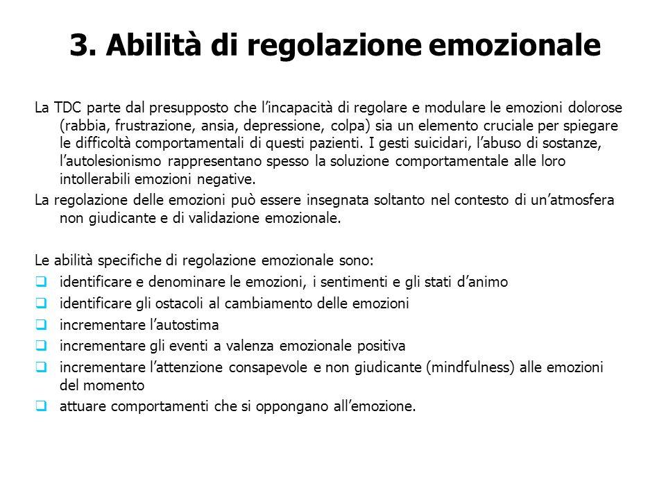 3. Abilità di regolazione emozionale
