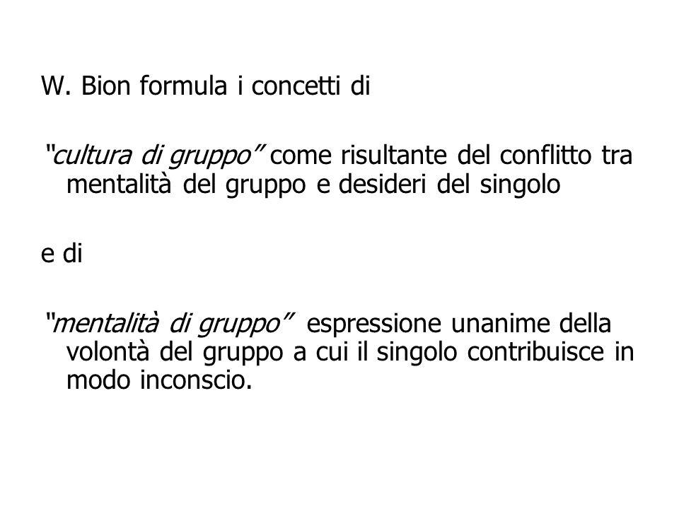 W. Bion formula i concetti di