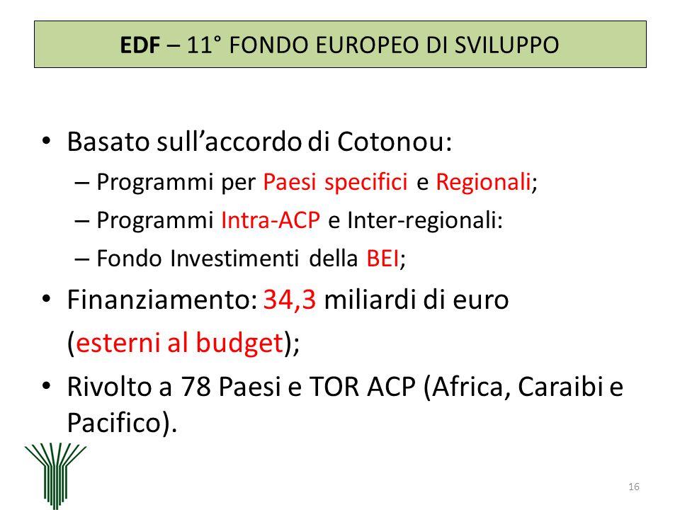 EDF – 11° FONDO EUROPEO DI SVILUPPO