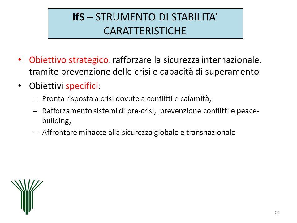 IfS – STRUMENTO DI STABILITA' CARATTERISTICHE