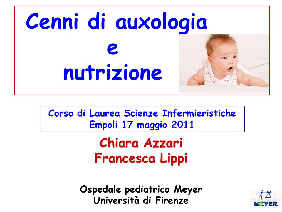 Corso di Laurea Scienze Infermieristiche Ospedale pediatrico Meyer