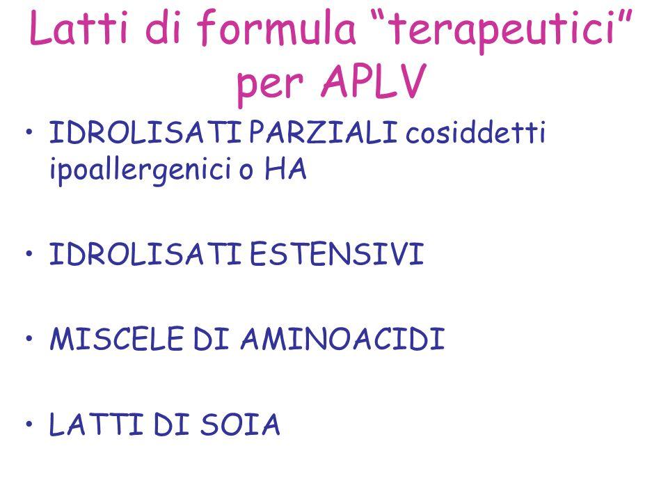 Latti di formula terapeutici per APLV