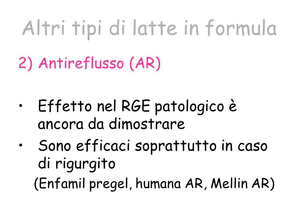 Altri tipi di latte in formula