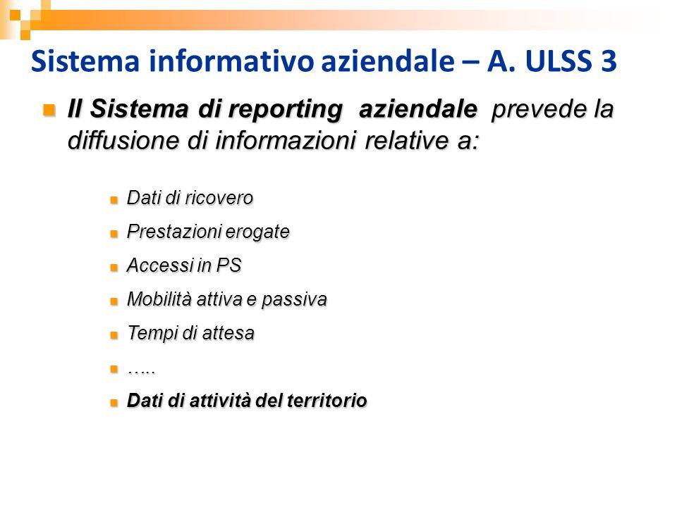 Sistema informativo aziendale – A. ULSS 3