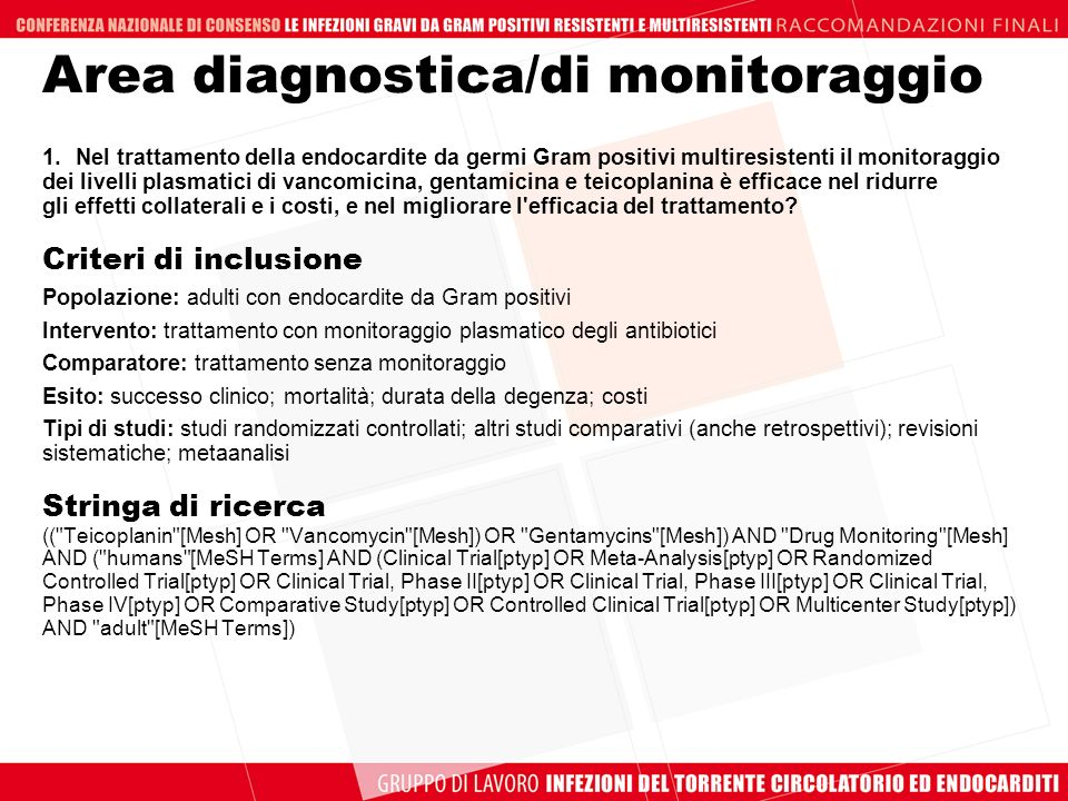 Area diagnostica/di monitoraggio