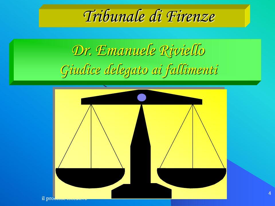 Dr. Emanuele Riviello Giudice delegato ai fallimenti