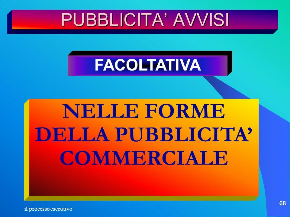 NELLE FORME DELLA PUBBLICITA' COMMERCIALE