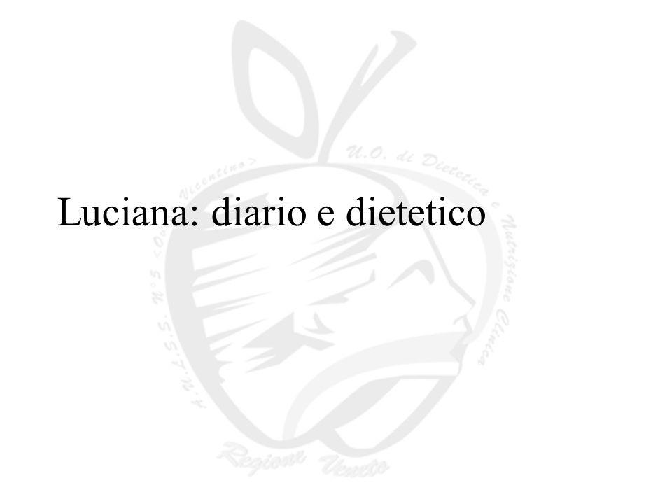 Luciana: diario e dietetico