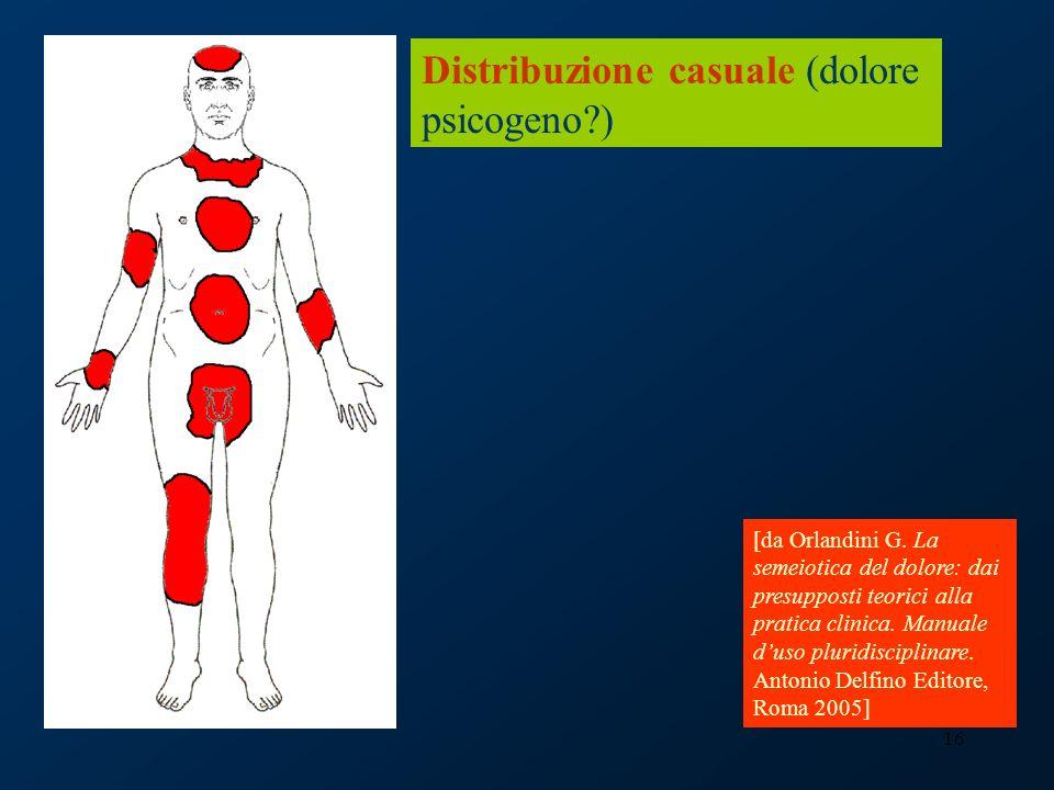 Distribuzione casuale (dolore psicogeno )