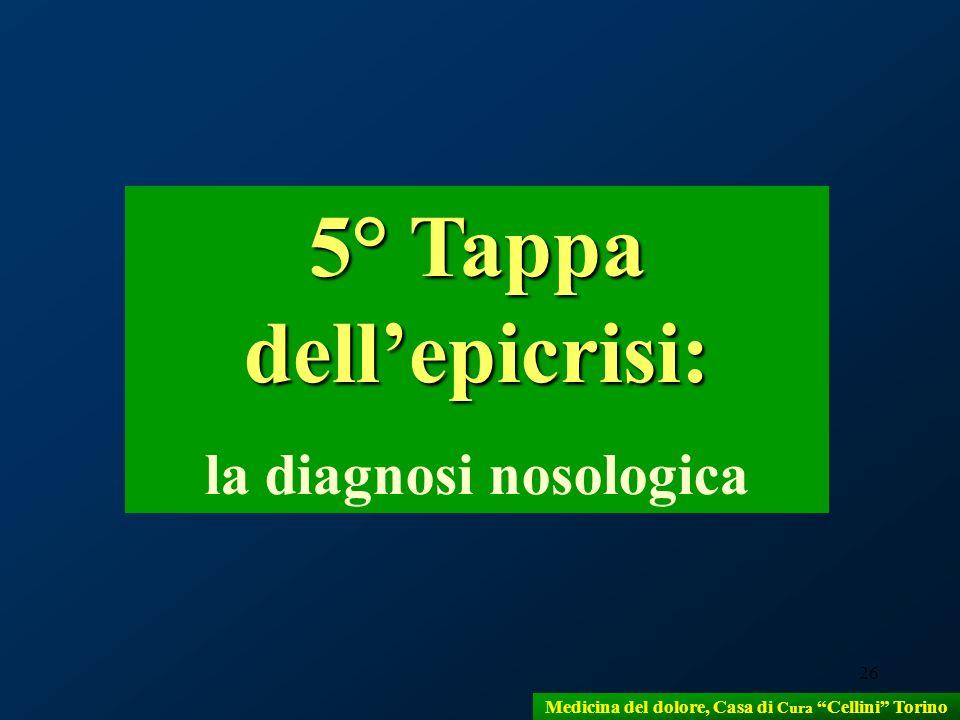 5° Tappa dell'epicrisi: