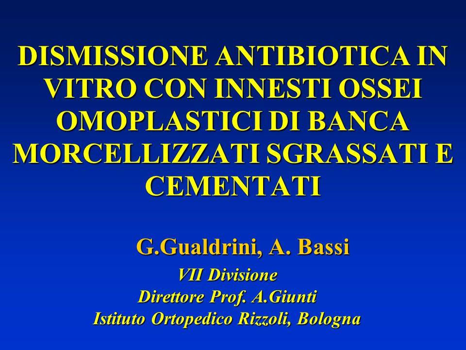 Direttore Prof. A.Giunti Istituto Ortopedico Rizzoli, Bologna