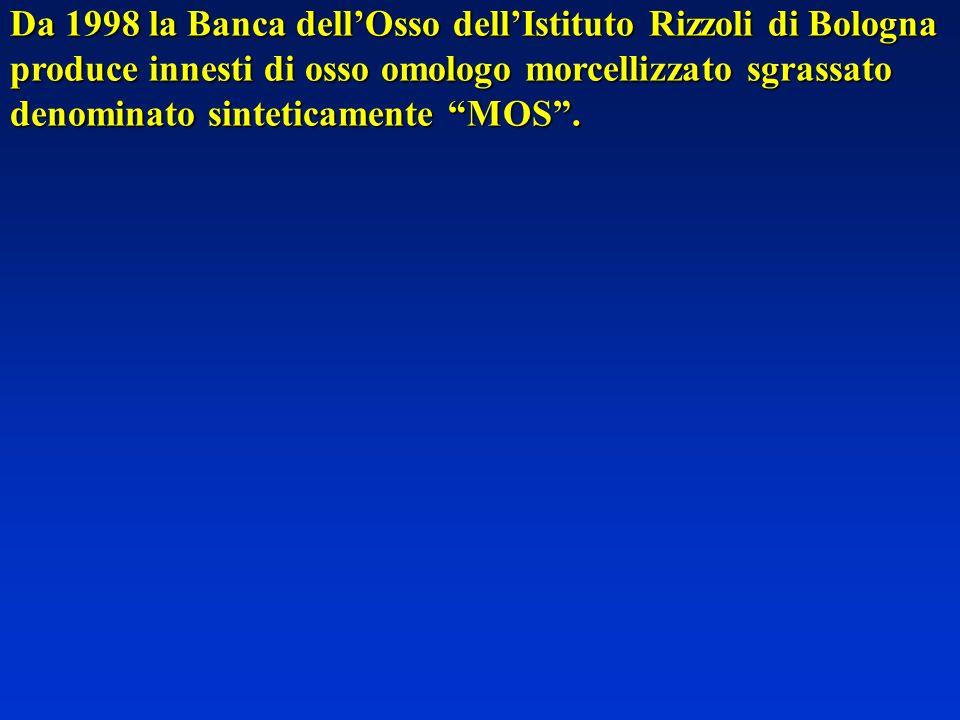 Da 1998 la Banca dell'Osso dell'Istituto Rizzoli di Bologna