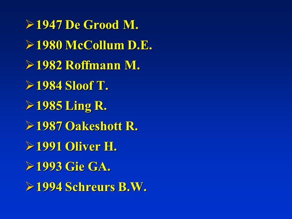 1947 De Grood M. 1980 McCollum D.E. 1982 Roffmann M. 1984 Sloof T. 1985 Ling R. 1987 Oakeshott R.