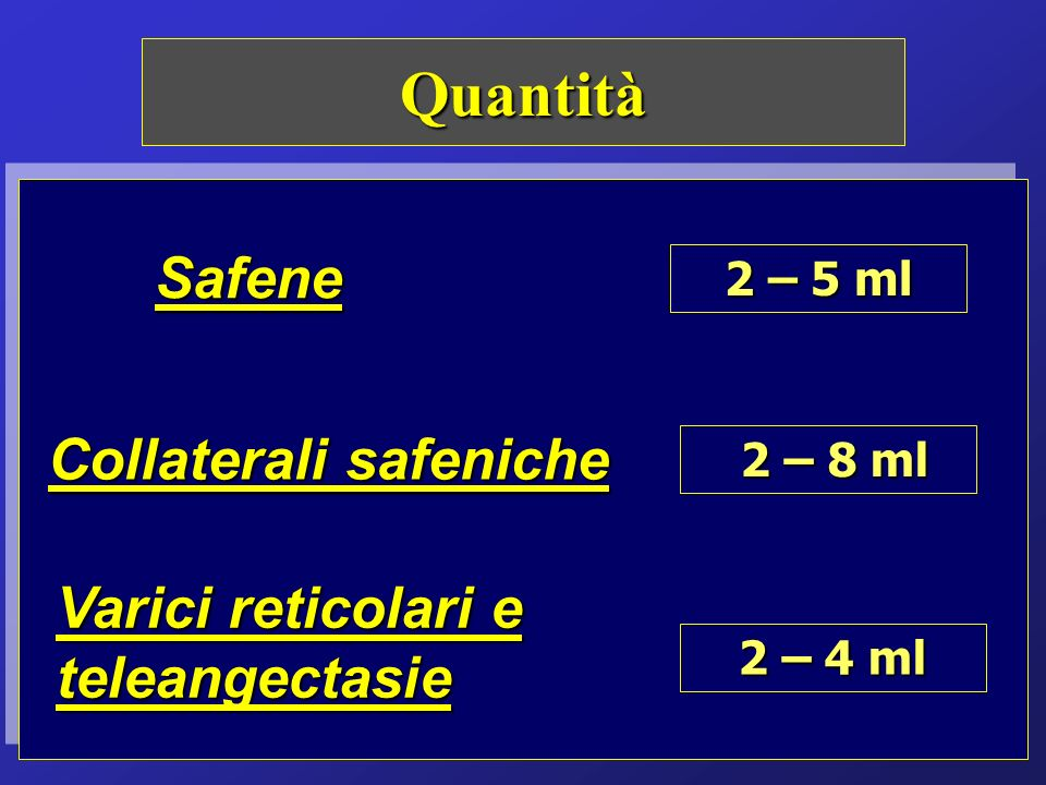 Quantità Safene Collaterali safeniche
