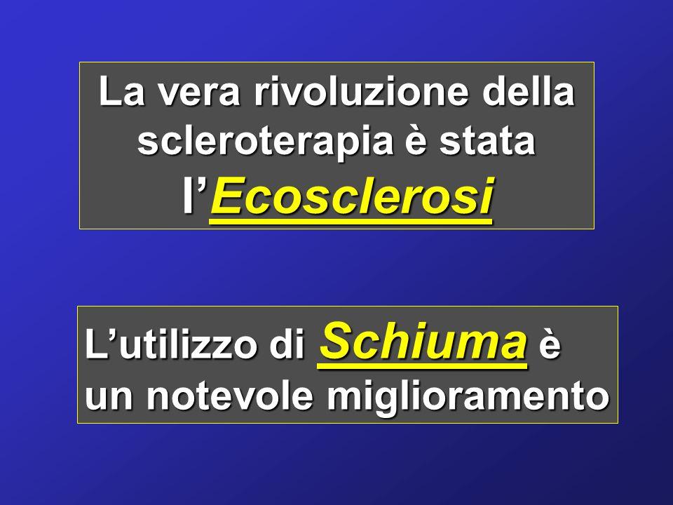 La vera rivoluzione della scleroterapia è stata l'Ecosclerosi