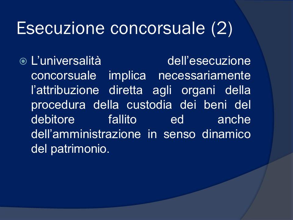 Esecuzione concorsuale (2)
