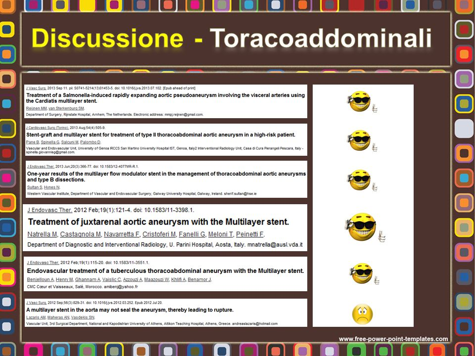 Discussione - Toracoaddominali