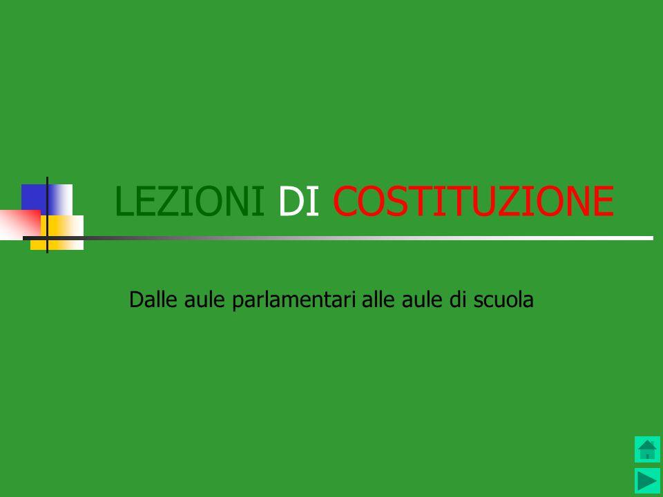 LEZIONI DI COSTITUZIONE