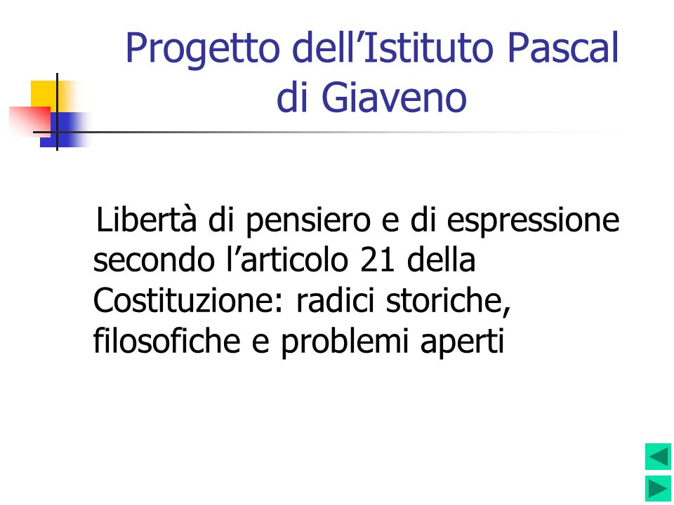 Progetto dell'Istituto Pascal di Giaveno