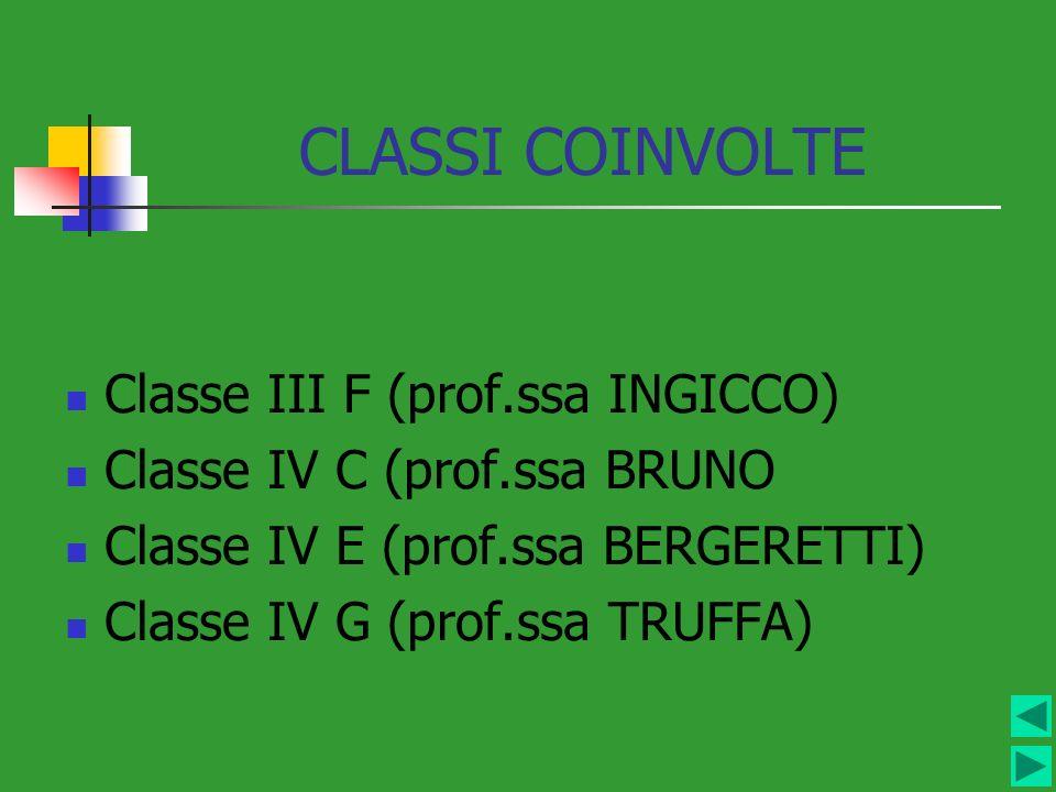 CLASSI COINVOLTE Classe III F (prof.ssa INGICCO)