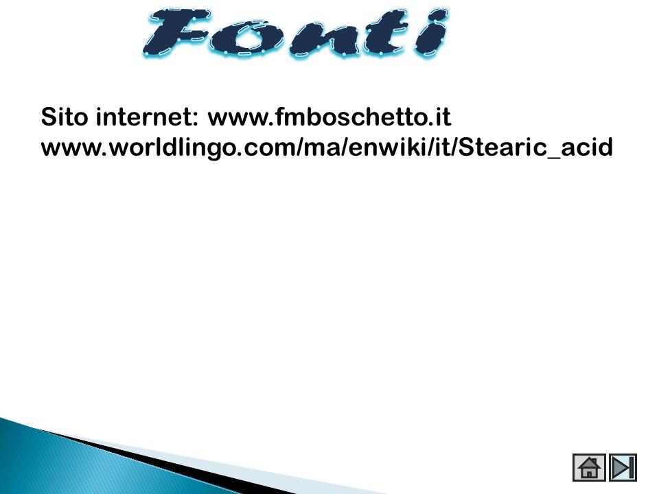 Fonti Sito internet: www.fmboschetto.it