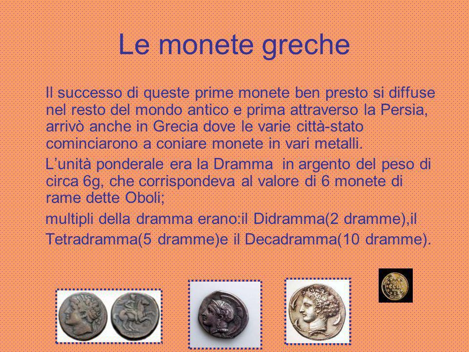 Le monete greche