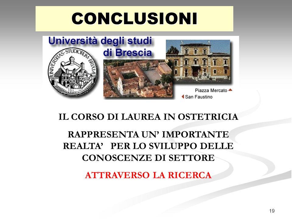 IL CORSO DI LAUREA IN OSTETRICIA