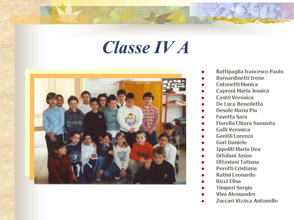 Classe IV A Battipaglia francesco Paolo Barnardinetti Irene