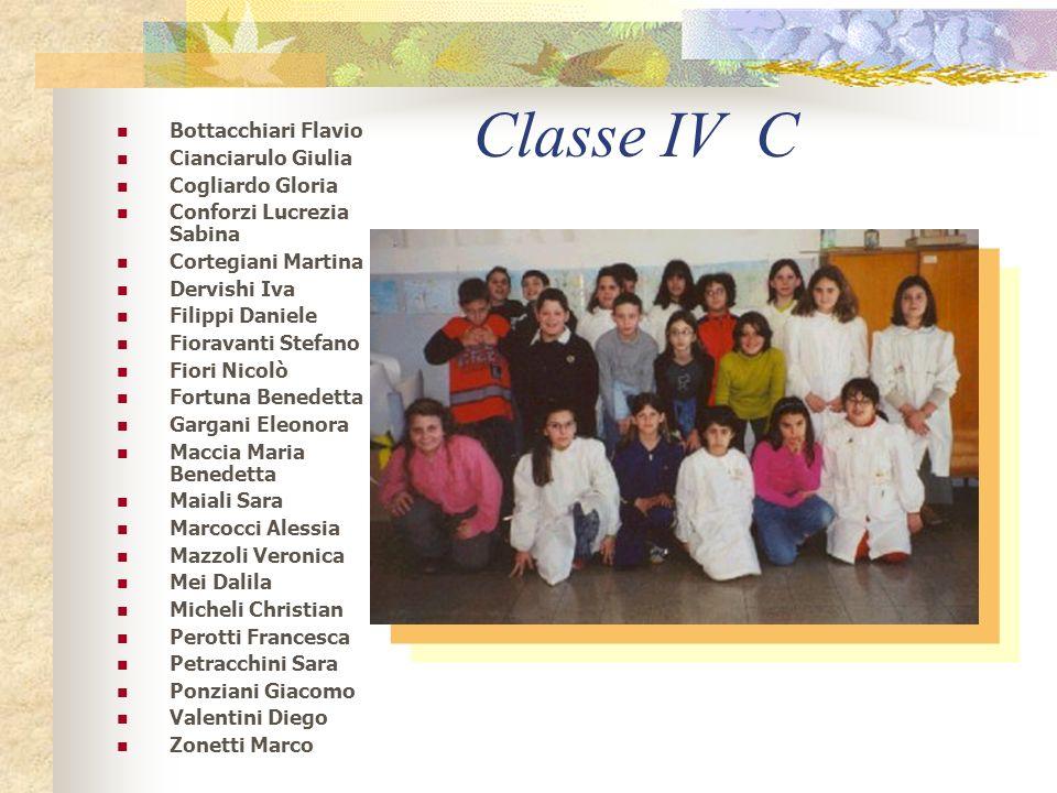 Classe IV C Bottacchiari Flavio Cianciarulo Giulia Cogliardo Gloria