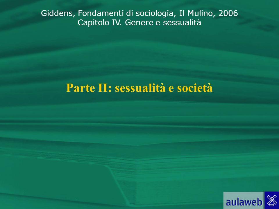 Parte II: sessualità e società