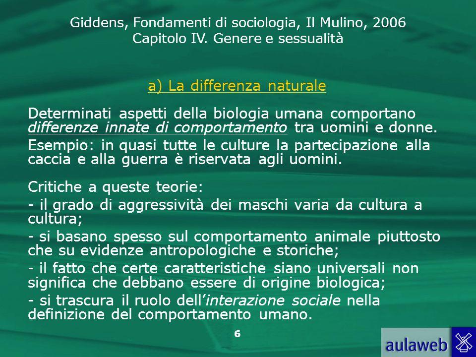 a) La differenza naturale