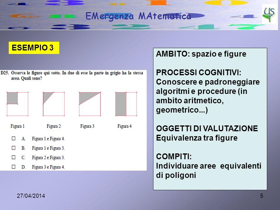 AMBITO: spazio e figure PROCESSI COGNITIVI: