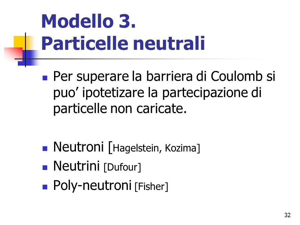 Modello 3. Particelle neutrali