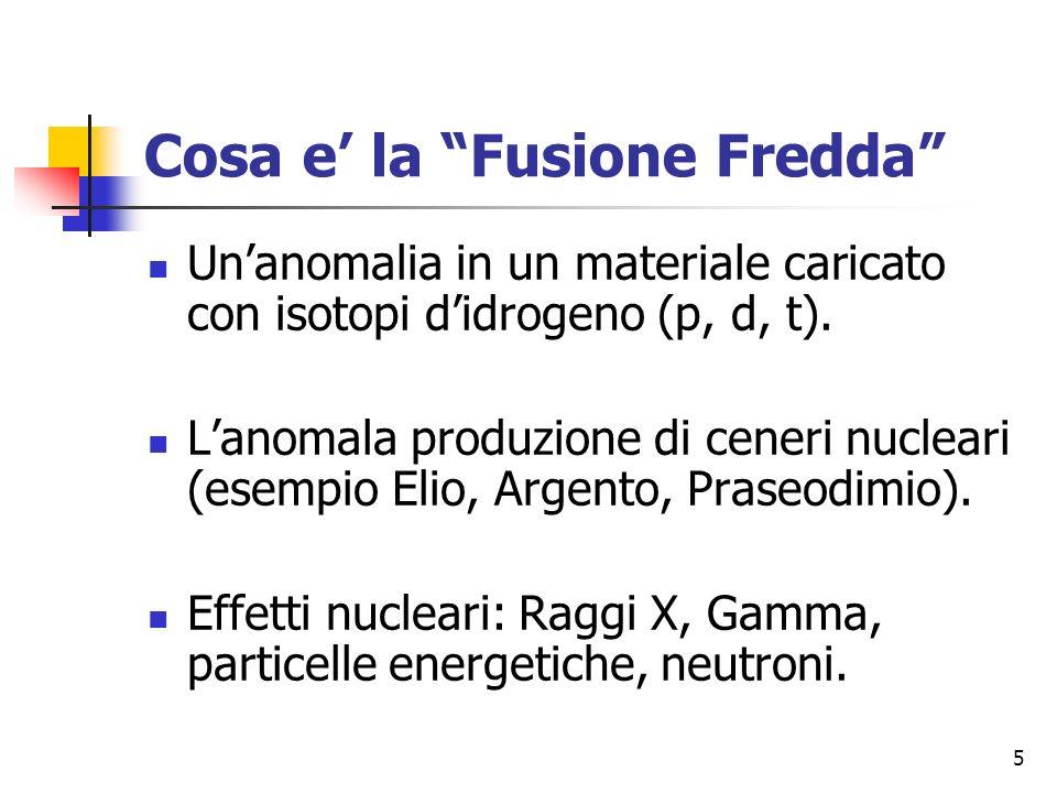 Cosa e' la Fusione Fredda