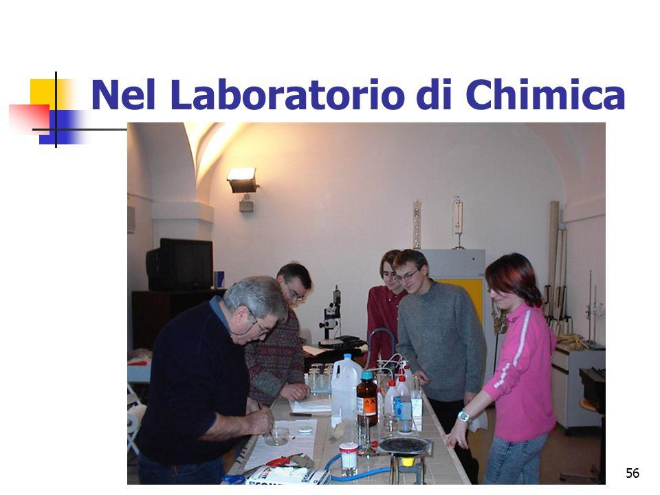 Nel Laboratorio di Chimica