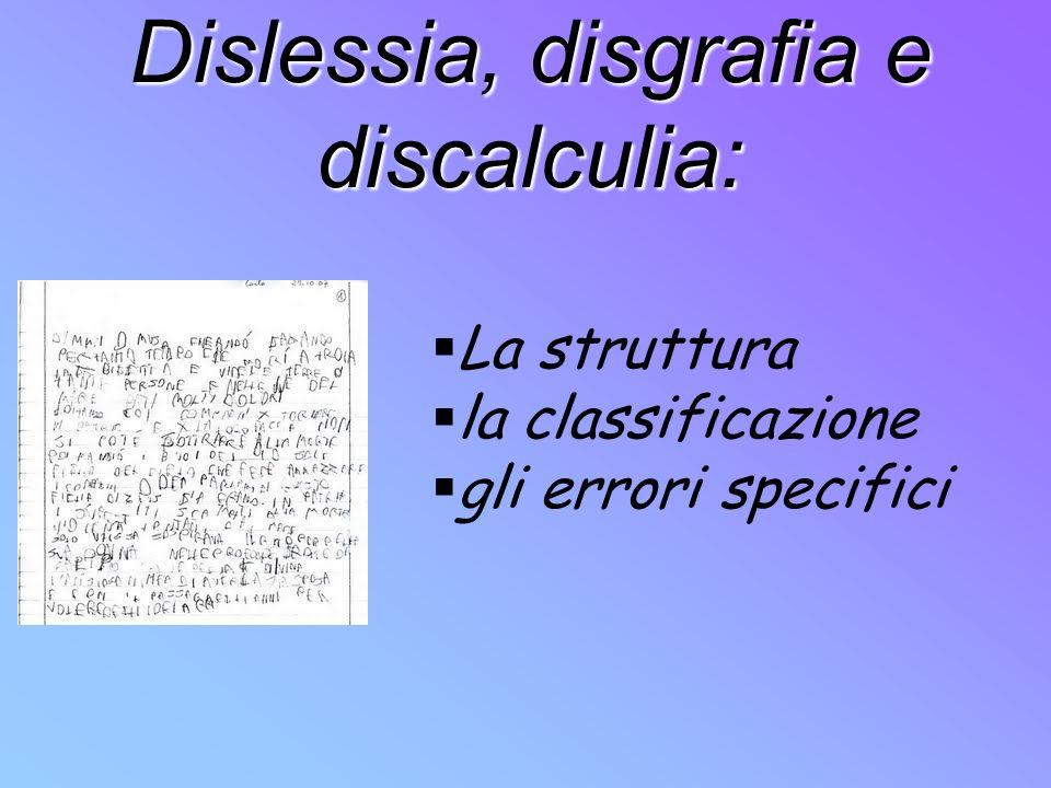 Dislessia, disgrafia e discalculia: