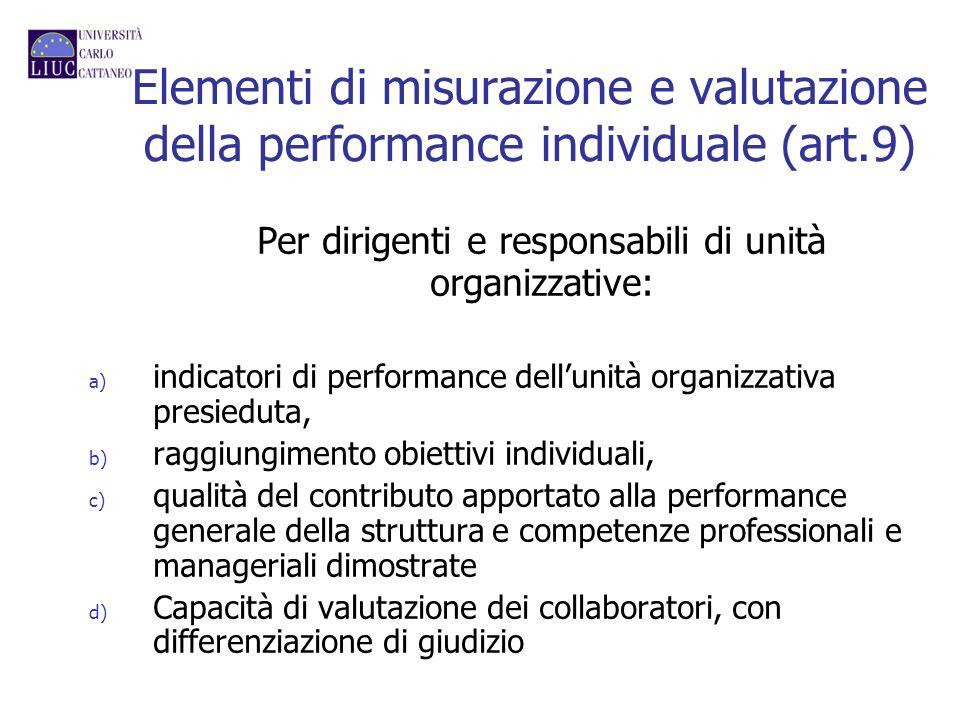 Per dirigenti e responsabili di unità organizzative: