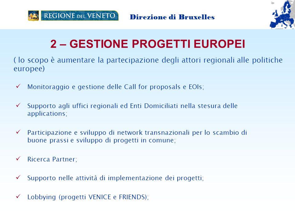 2 – GESTIONE PROGETTI EUROPEI