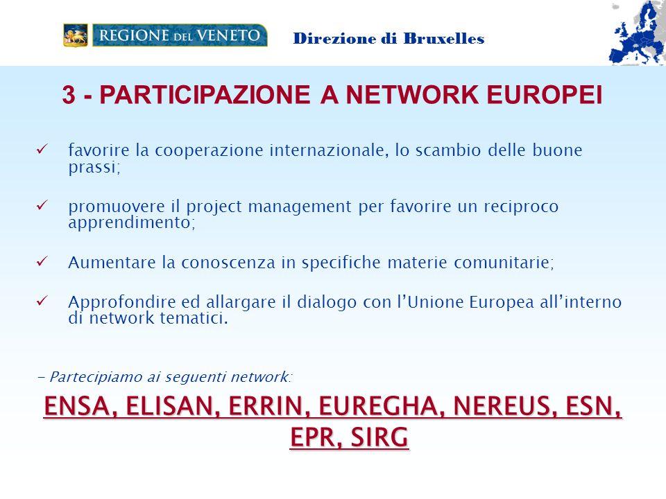 3 - PARTICIPAZIONE A NETWORK EUROPEI