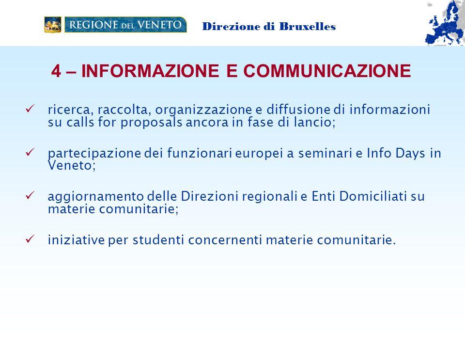 4 – INFORMAZIONE E COMMUNICAZIONE