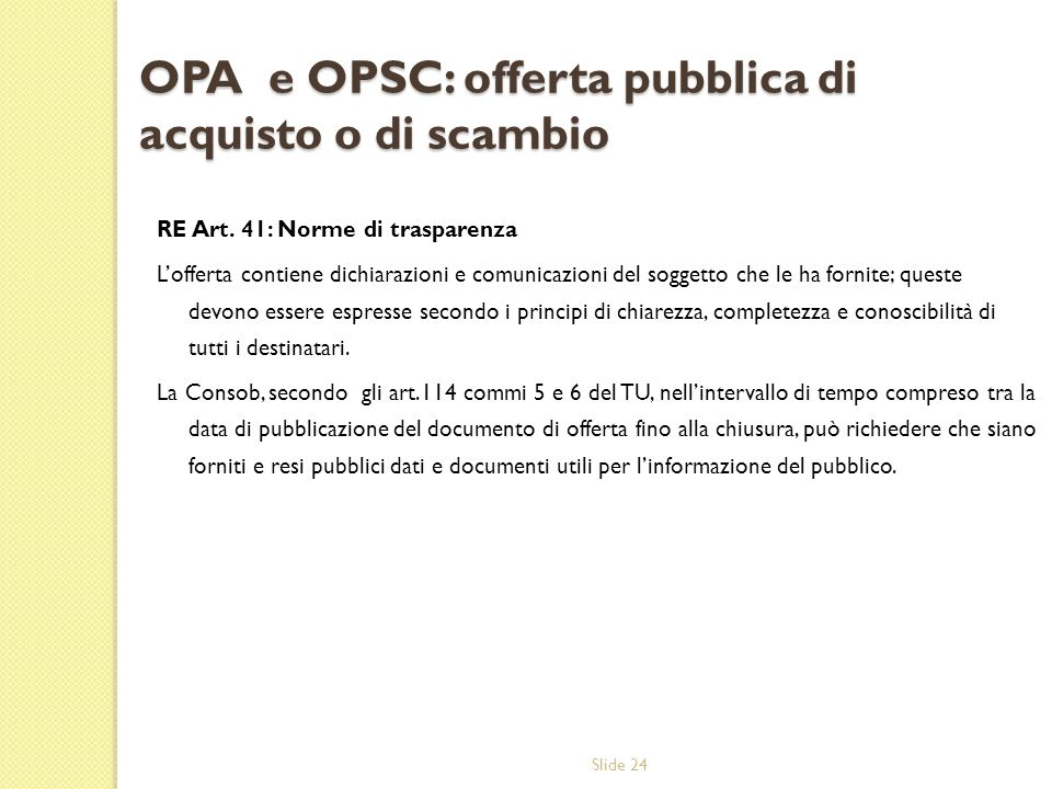 OPA e OPSC: offerta pubblica di acquisto o di scambio